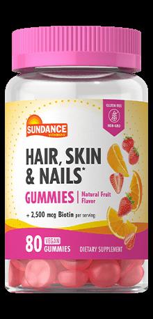Hair, Skin and Nails* Gummies plus 2,500 mcg Biotin