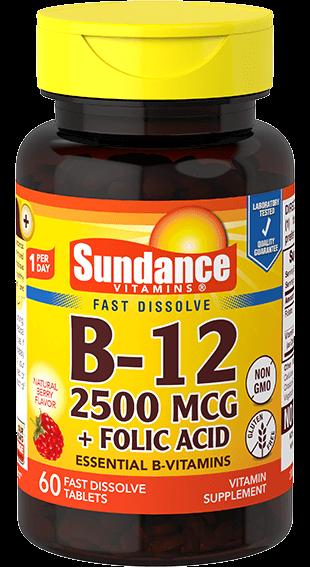 Vitamin B-12 2500 plus Folic Acid