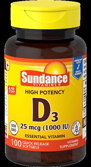 Vitamin D3 25 mcg (1000 IU)