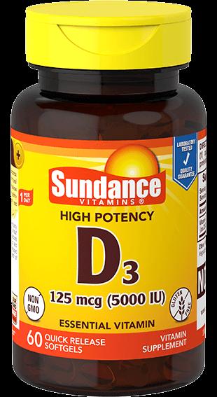 Vitamin D3 125 mcg (5000 IU)