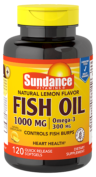 Natural Lemon Fish Oil 1000 mg
