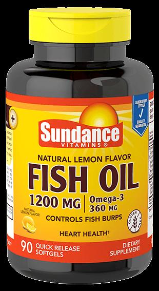 Natural Lemon Fish Oil 1200 mg