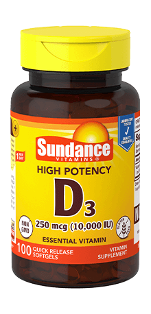 High Potency Vitamin D3 250 mcg (10,000 IU)