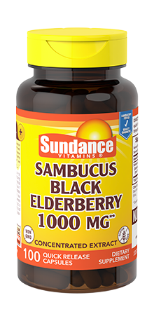 Sambucus Black Elderberry <br>1000 mg**
